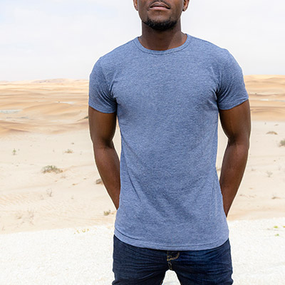 Men Melange Crew Neck T-Shirt