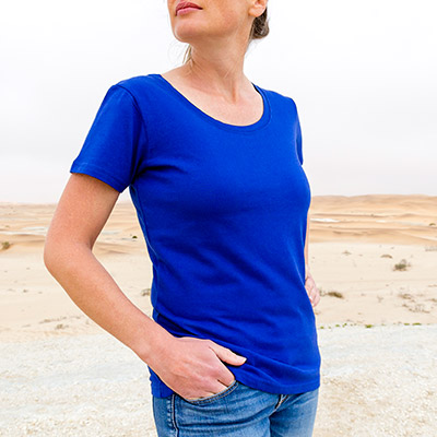 Women Capped Sleeve T-Shirt